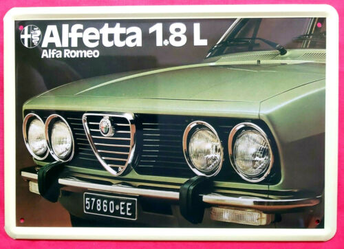 Blechschild 20x30 Alfa Romeo Alfetta 1.8 Youngtimer Kult Auto Italien Werkstatt