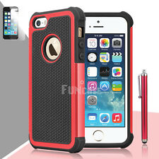 Black Rugged Rubber Matte Hard Shell Durable Case Cover For Apple iPhone 5/5S