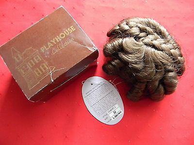 Vintage Doll Wig Model MINI BEBE Size 11cm  Light Brown Modacrylic Playhouse NOS