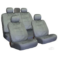 For Jeep Semi Custom Grey Velour Seat Covers Set