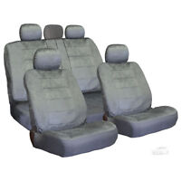 For Jeep Semi Custom Grey Velour Seat Covers Set