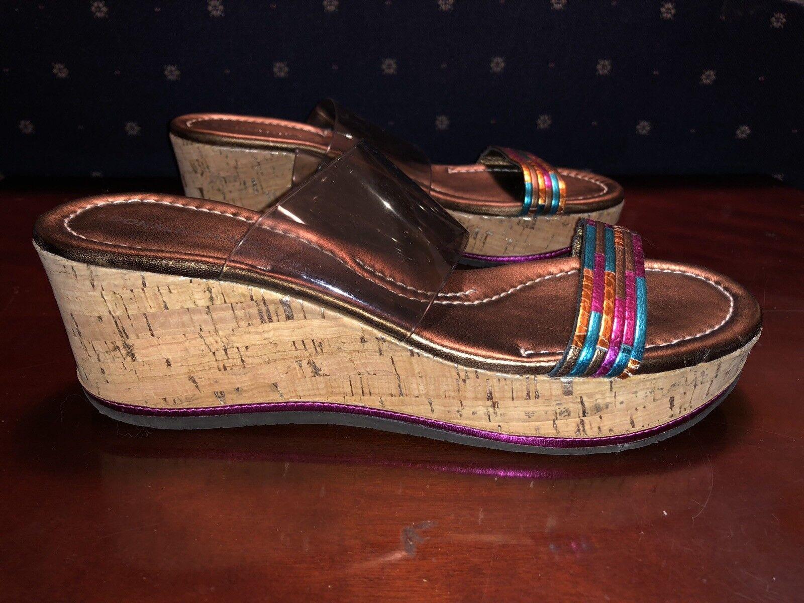 te hará satisfecho Para mujeres Donald J. Pliner Pliner Pliner Colorido Correa con sandalias de cuña con plataforma de corcho, tamaño 6.5  barato y de alta calidad