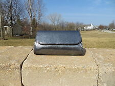 NEW - Bare Escentuals clutch/makeup bag - pewter/silver shimmering