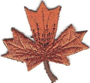 """<2"""" Brown Leaf embroidery Leaves Patch"""