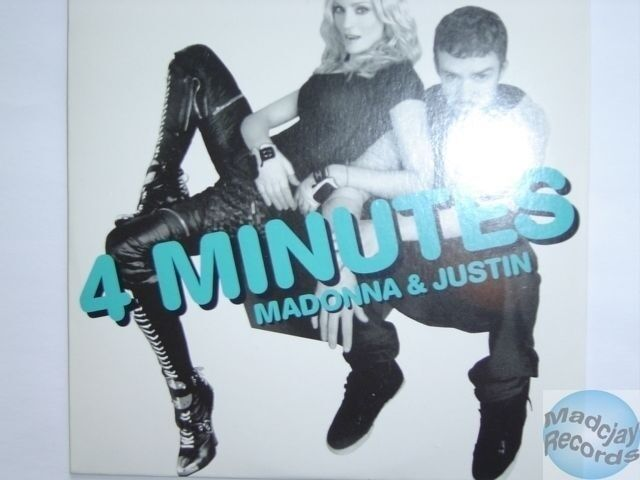Madonna 4 Minutes Cd Single Card Sleeve