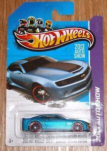 A Hot Wheels 2013 Chevy Camaro Special Edition Blue