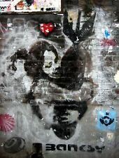 a1 size 80cm+ BANKSY BOMB Graffiti Street Art Wall Decor Print CANVAS