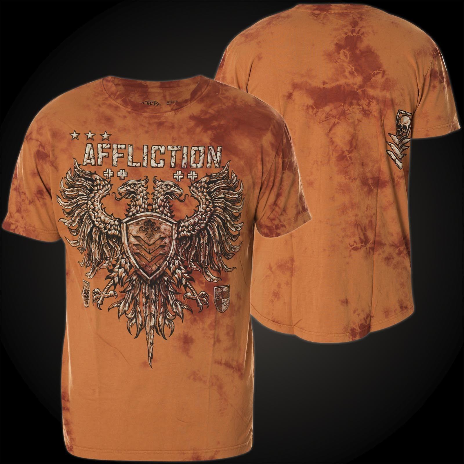 AFFLICTION T-Shirt Value Chalkboard Orange T-Shirts