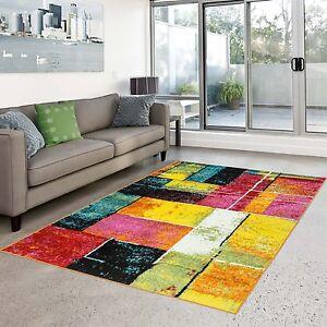 teppich modern splash designer multi farben bunt karo. Black Bedroom Furniture Sets. Home Design Ideas