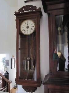 Antique Large Waterbury 3 Weight Driven Wall Regulator