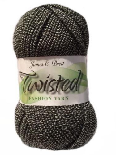 James C Brett Twisted Marled Effect Fashion Yarn Machine Washable 100g