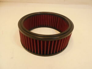 """6 3/8"""" Round Washable Element Air Filter Pre-Oiled Bright Red 2 1/2"""" Tall"""