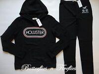 Hollister By Abercrombie 2pc Lounge Set Hoodie Sweatshirt Leggings Black L