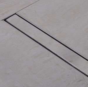 STAINLESS-STEEL-FLOOR-LINEAR-SHOWER-DRAIN-BATHROOM-WETROOM-TRAP-CHANNEL-TILE