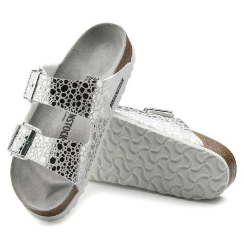 672dd9d4518f8f 1 sur 8Seulement 4 disponibles Birkenstock Arizona 38 39 41 normal metallic  stones silver silber 1008869 NEU