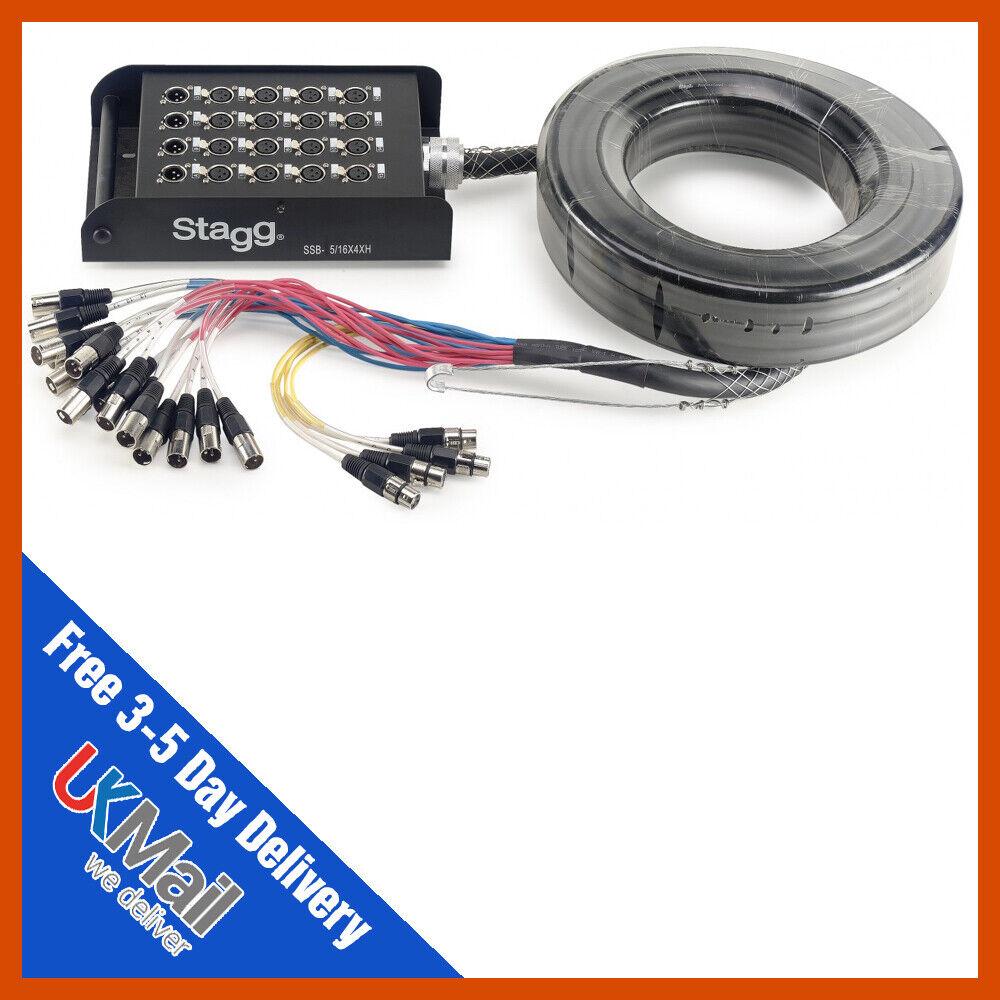 Stagg SSB-05 16X4XH 20 Way 16 4 5m XLR Multicore Stagebox Snake XLRMulticore