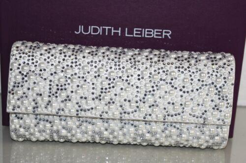 Leiber Judith Cristaux Pochette Perles En Orné Argent Blanc Mariage Chaine 1qqwd6f