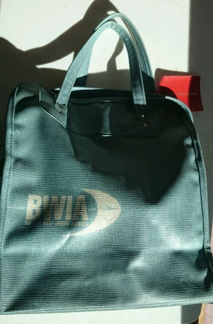 Vintage airline passenger carry-on bag for British West Indian Airways