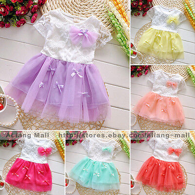 New Fashion Baby Girl Sleeveless Lace Dress Clothing Princess Skirt Kids Clothes