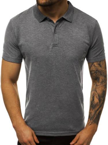 Poloshirt T-Shirt Tee Hemd Polo Kurzarm Unifarben Classic Herren OZONEE Basic 01