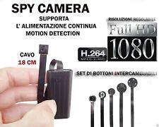 MICROSPIA SPY CAMERA SPIA FULL HD MOTION DETECTION TELECAMERA NASCOSTA CW145