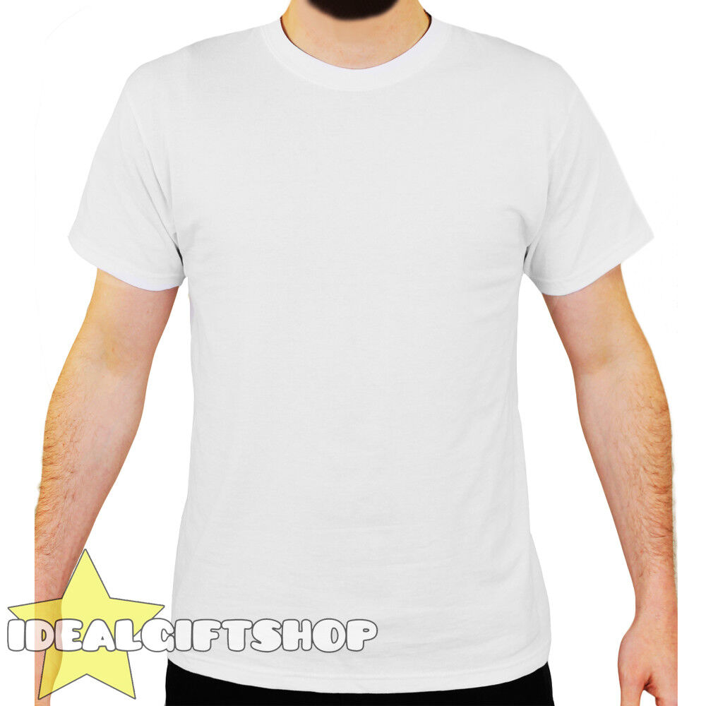 Weiß SHORT SLEEVED BLANK PLAIN CREW NECK T SHIRT GrößeS S-XXL WHOLESALE