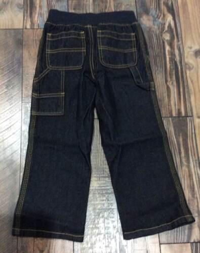 GYMBOREE BOYS Denim Dark Jeans PANTS Pull On WAIST Nwt 2t