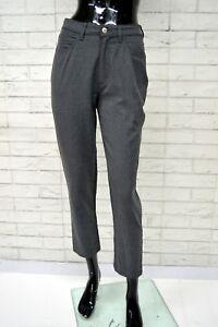 Pantalone-TRUSSARDI-JEANS-Donna-Taglia-36-Pants-Woman-Jeans-Slim-Elastico-Corto