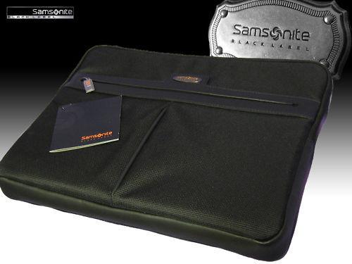 "New SAMSONITE BLACK LABEL OPTO Exclusive Executive LapTop Sleeve Case Black 16"""