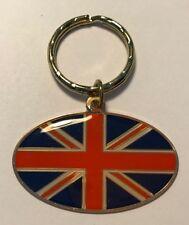 GREAT ENAMELLED BRITISH / UNION JACK KEYCHAIN / KEYRING CHARM