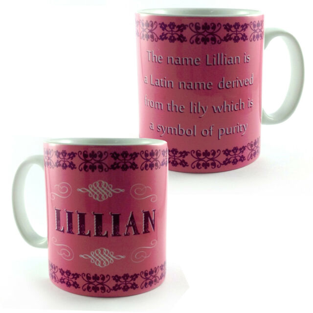 Lillian Name Meaning Mug Lily Pure Personalised Gift Cup Present