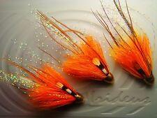 Irideus Tangerine Dream Tube Flies Streamer Trout Steelhead Fly Fishing Flies