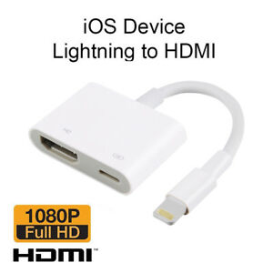 Details About 8 Pin Lightning To Digital Av Adapter Hdmi Cable For Iphone X 7 6 6s 5 Uk