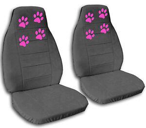 Nice Set Paw Prints Car Seat Covers 12colors Choose