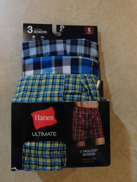 0ed4d64c08c8 3 Pack Hanes Men's TAGLESS Ultimate Fashion Boxer Assorted S ______ R18E2