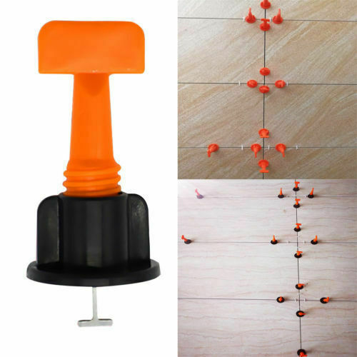 50-200pcs Ceramic Floor Wall Construction Tool Reusable Tile Leveling System Kit