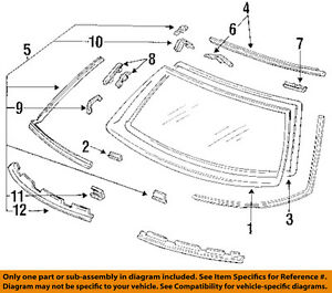 Details about HONDA OEM 90-93 Accord Rear Window Gl-Reveal Molding on 90 accord engine diagram, honda civic engine diagram, honda vtec engine diagram,