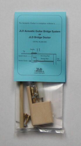 JLD Bridge Doctor System for Bowed//Bellied//Warped Guitar Top Brass Pin Mount