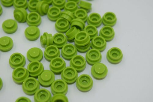 100 New LEGO Lime Green 1x1 Round Plates 6141 bright yellow green city dot cap