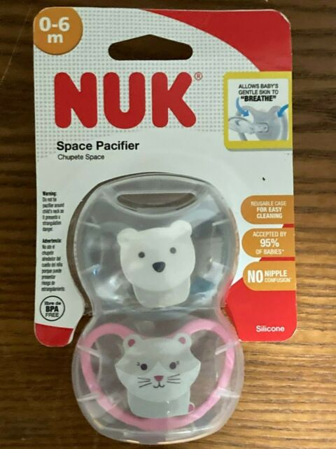6-18 Months NUK Space Orthodontic Pacifiers 2 Pack