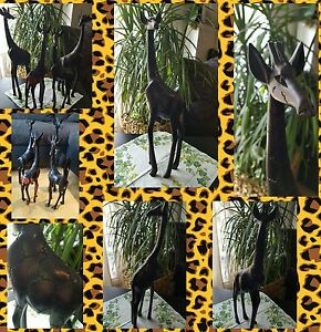 Afrika Deko afrika deko giraffen figur dekoration holz ca 47 cm ebay