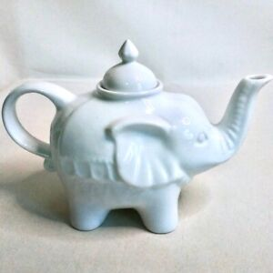 CORDON-BLEU-ELEPHANT-TEA-POT-White-Classic-Ceramic-China-Kitchen-Household