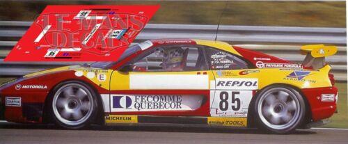 Calcas Ferrari F355 Le Mans 1996 Test 85 1:32 1:43 1:24 1:18 87 355 slot decals