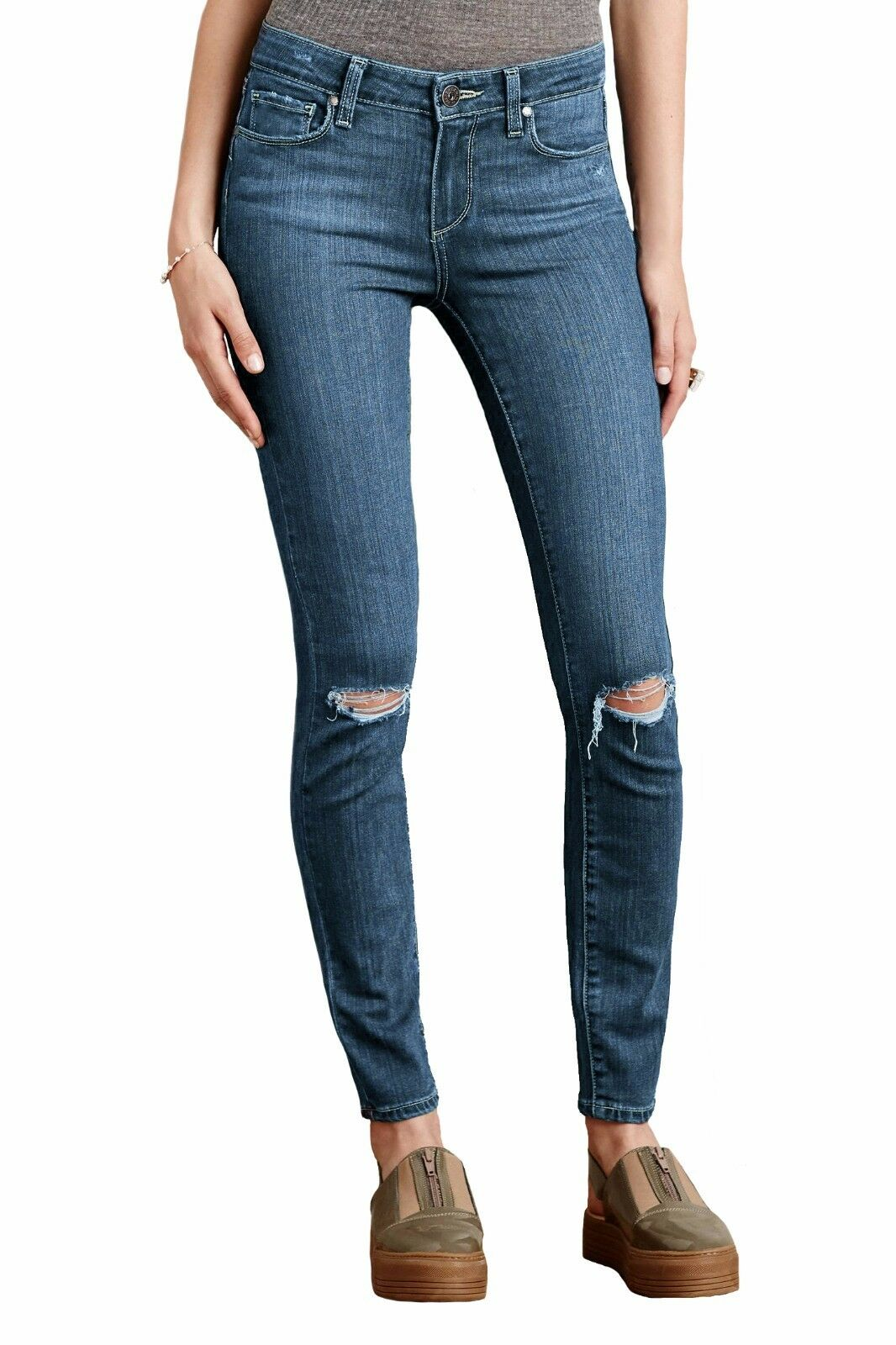 Paige Verdugo Ankle Jeans Orleans Distressed Women's US Sizes 25 & 27 & 28