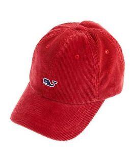 Image is loading VINEYARD-VINES-RED-CORDUROY-BASEBALL-HAT-ADJUSTABLE-MEN- a744b5773b51