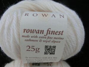 35-80-100-g-25-g-Rowan-Finest-Farbe-SH-065-Pure-wollweiss-3701