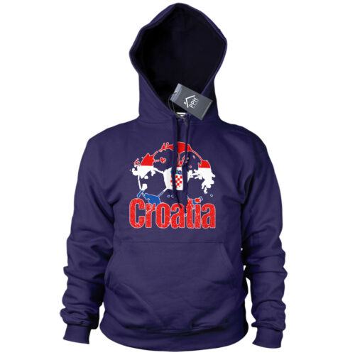 Croatia Football Hoodie Mens Boys Hrvatska Sport Sweater Training Gift Euros B40