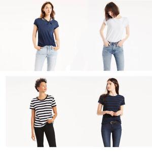 Levi-039-s-Damen-die-perfekte-Tasche-Rundhalsausschnitt-Baumwolle-T-Shirt