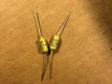 2 NOS Vintage Mullard .0056 uf 400v Mustard Capacitors 5600 pf TESTED .005