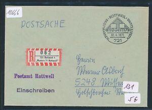 10666) Spécial R-mot Moderne 71 Rottweil Postsache Sst 30.4.71-afficher Le Titre D'origine